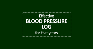 Effective Blood Pressure Log cover page