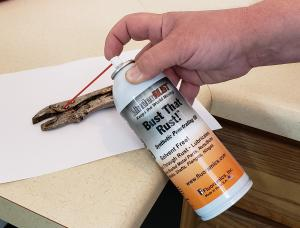 Applying Bust That Rust to a Vice Grip