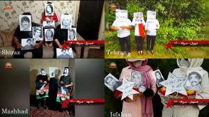 July 30, 2021 - Shiraz, Mashhad, Tehran, and Isfahan– Activities of Resistance Units and MEK supporters in commemoration of the victims of the 1988 massacre – July 29, 2021.