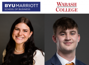 Jade Romano (BYU Marriott School of Business) and Drew Fleming (Wabash College) have been sponsored by their schools to help make Dare to Overcome happen