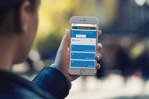 A Public Safety Responder Accesses Critical Emergency Information via EMMA on a Mobile Device