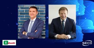 Roberto Tundo, Olivetti CEO and Massimo Mauri, SECO CEO