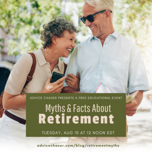 Advice Chaser's webinar will discuss myths and facts about retirement planning