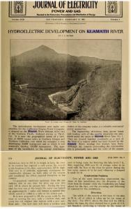 The 1913 publication Journal of Electricity cites the existence of the massive 130-tall lava dam that was eroded over time, creating a slot where Copco 1 dam was built