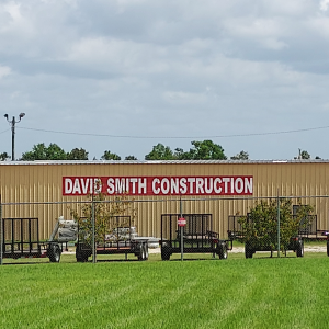 In front of the David Smith Construction building.