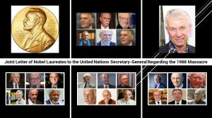 September 13, 2021 - In a letter to UN Secretary-General Antonio Guterres, 25 Nobel Prize winners expressed their solidarity and sympathy with the families and friends of those executed during the massacre of political prisoners in Iran in 1988.