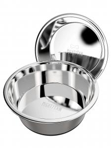 2 Mighty Paw stainless steel dog bowls