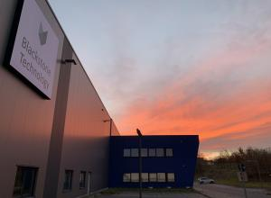Production building of Blackstone Technology GmbH (100% subsidiary of Blackstone Resources AG) in Döbeln. 3D Battery cell production.