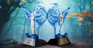2021 iLuxury Awards Statuettes - Queen Maia & Princess Loly