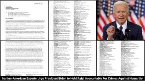 September 17, 2021 - the Iranian Professionals' Ad Hoc Committee on Iran Policy addressed an open letter to President Joe Biden on September 14, 2021, requesting that the American government take bold and immediate measures to show that Ebrahim Raisi does