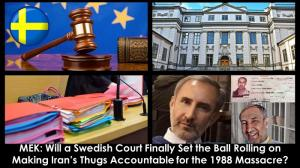 September 17, 2021 - (NCRI) and (PMOI / MEK Iran): Publication of indictment and documents in the Case of Hamid Noury, Iranian Regime Henchman, by Swedish Prosecutor Authority.