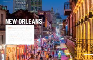 Sample page of the New Orleans part in the Rough Guide to the 100 Best Places in the US