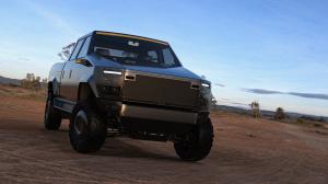 Atlis XT Pickup in the desert
