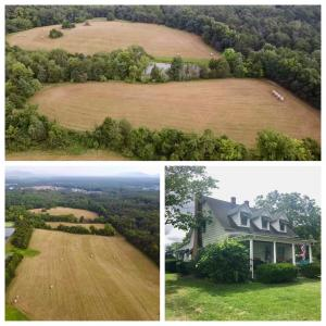 49.62 +/- acres w/income producing home, pond & 2 bay shop/garage in White Post, VA (Frederick County) near I-81 and 66