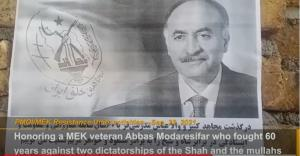September 25, 2021 - Resistance Units also honor an MEK veteran Abbas Modaresifar who fought 60 years against two dictatorships of the Shah and the mullahs.