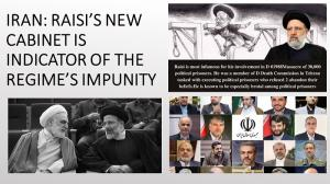 September 25, 2021 - Raisi's New Cabinet is Indicator of the Regime's Impunity