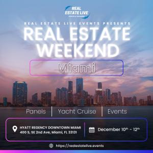 Real Estate Weekend in Miami is a series of networking events, panels, and a yacht cruise for Real Estate professionals and investors.
