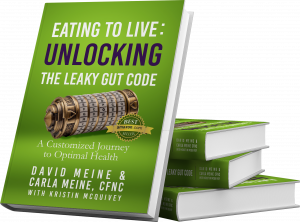 Eat to Live: Unlocking the Leaky Gut Code is the journey David Meine used to heal himself through systematic use of nutrition.  He almost eliminated many prescriptions and even reversed his cancer.