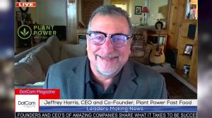 Jeffrey Harris, Leading Healthy Fast Food Restaurant Entrepreneur, and CEO and Co-Founder of Plant Power Fast Food, Zoom Interviewed for The DotCom Magazine.
