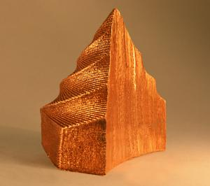 Pure Copper (cut-away to show internal structure)