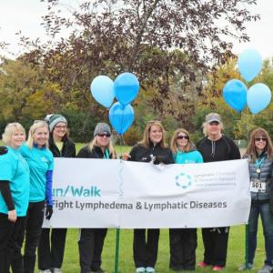 Finish line at 2016 WI Run/Walk to Fight Lymphedema & Lymphatic Diseases