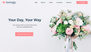 Lovingly Weddings guides happy couples through questions about their upcoming wedding, helping inspire thoughts and ideas, while providing a curated list of talented local wedding florists.