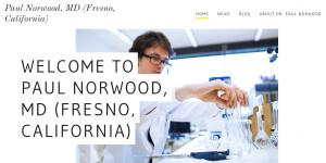 Website of Paul Norwood MD Fresno California