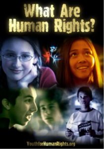 """What Are Human Rights?"" educational booklet provided free of charge by Youth for Human Rights International"