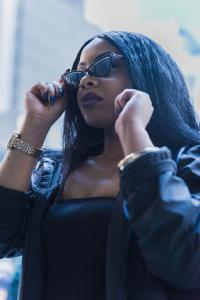 La'Vega wearing shades