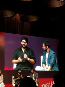 Pujneet Singh owner of Bhooka Saand at YouTube Fanfest