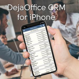 DejaOffice CRM for iPhone with Outlook Sync using CompanionLink