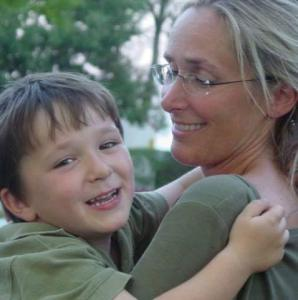 Scarlett Lewis and her son Jesse Lewis, a Sandy Hook victim and Hero