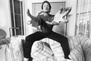 Robin Williams as he acts out the comedy in his head.