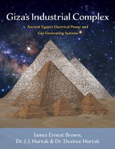 Giza Pyrmamids with starry background