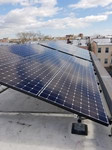 Solar Panels on Flat NY Rooftop