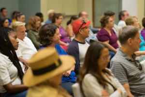 The series of interfaith forums is held in the Chapel of the Church of Scientology Los Angeles.