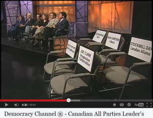 """Democracy Channel® 2000 """"All Party"""" Leaders' Debate"""