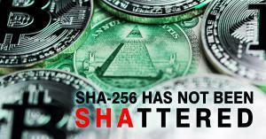 SHA-256 Not Shattered