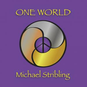 Album cover art with purple and gold peace sign mandala.