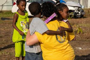 After a lot of hard work, a hug like this makes it all worthwhile.