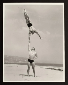 Bruce Bellas (Bruce of Los Angeles) male physique photo, one of two in a group lot offered with a $400-$600 auction estimate
