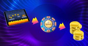 Users can play games, win rewards as tokens and exchange them for money