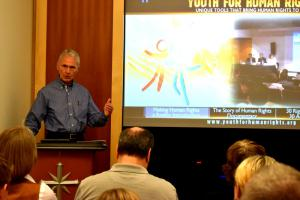 Guests at the forum were introduced to the resources on the Youth for Human Rights website